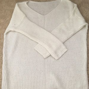 Loose White Sweater, Size 2-4